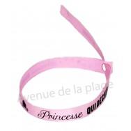 Bracelet ruban message Princesse qui déchire