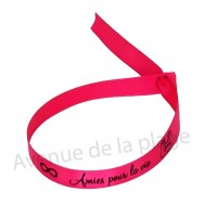 Bracelet ruban message Amies pour la vie
