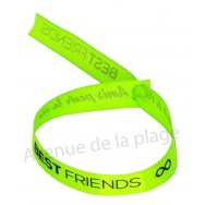 Bracelet ruban message Best friends - Amis pour la vie