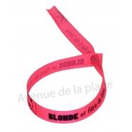 Bracelet ruban message Blonde et fière de l'être