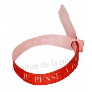 Bracelet ruban message Je pense à toi