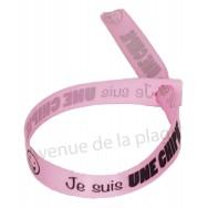 Bracelet ruban message Je suis une chipie
