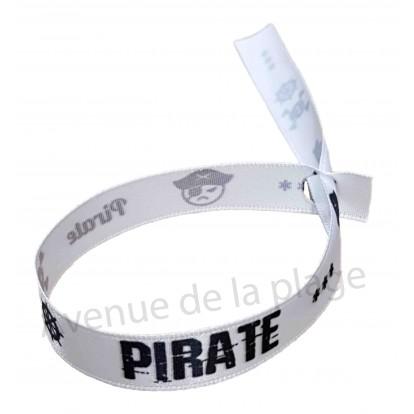 Bracelet ruban message Pirate