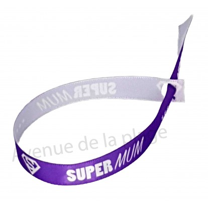 Bracelet ruban message Super Mum