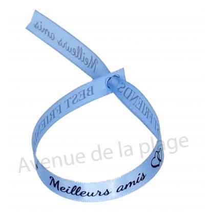 Bracelet ruban message Meilleurs amis
