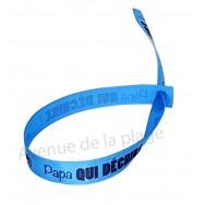 Bracelet ruban message Papa qui déchire