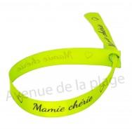Bracelet ruban message Mamie chérie