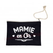 Pochette message Mamie en or