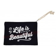 Pochette message Life is beautiful
