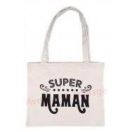 Sac à main cabas message Super Maman