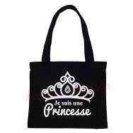 Sac à main cabas message Je suis une Princesse