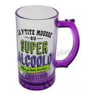 Chope à bière humoristique du Super Alcoolo