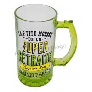 Chope à bière humoristique de la Super Retraite