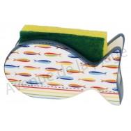 Porte éponge poisson sardines multicolores