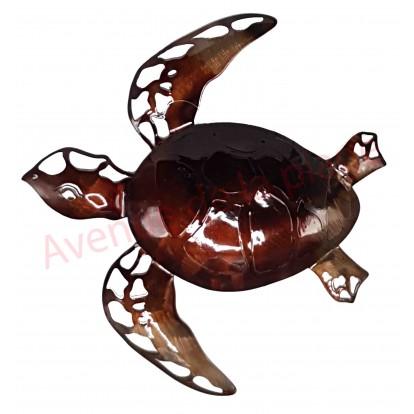 Tortue de mer décorative marron 42 cm à accrocher