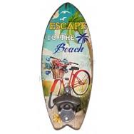 Décapsuleur mural surf vélo rouge escapade à la plage