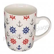 Mug ancres de bateau et gouvernails
