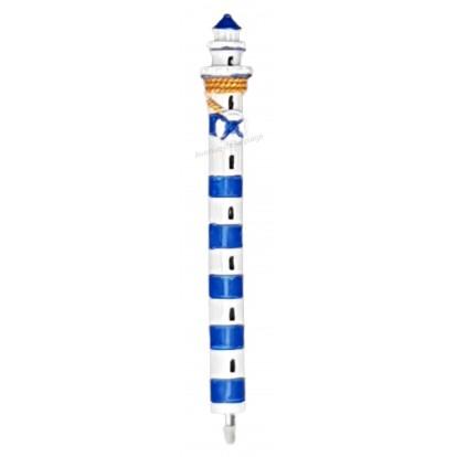 Stylo phare marin bleu et blanc