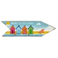 Magnet flèche cabines de plage