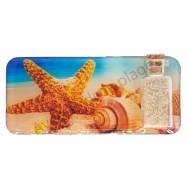 Magnet bouteille sable étoile de mer et coquillages
