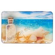 Magnet bouteille de sable et plage paradisiaque
