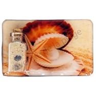 Magnet bouteille sable et perle dans coquillage