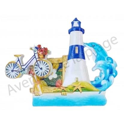 Magnet phare et vélo sur ressort