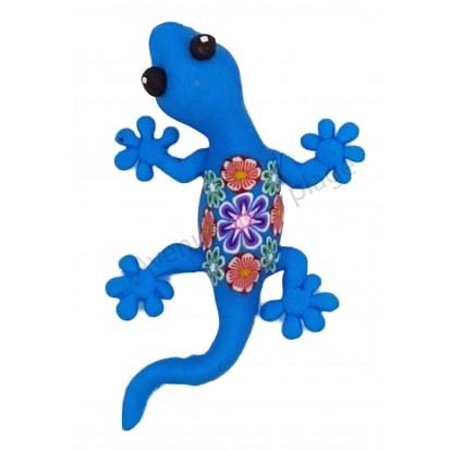 Magnet lézard coloré bleu