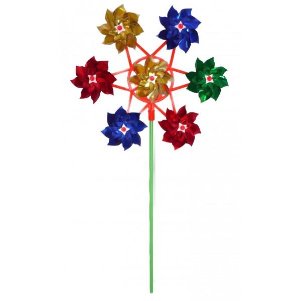 jeux et jouets moulin vent 7 fleurs d coration de jardin. Black Bedroom Furniture Sets. Home Design Ideas