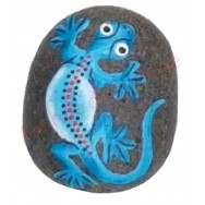 Magnet galet lézard bleu