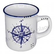 Mug US rose des vents
