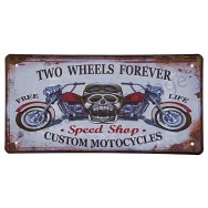 Plaque d'immatriculation US Moto 2 roues pour toujours