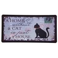 Plaque d'immatriculation US chat noir