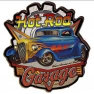 Plaque métal Hot Rod garage