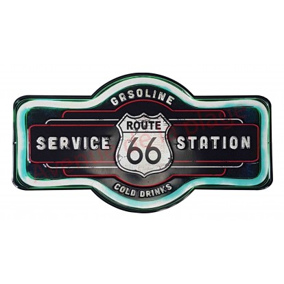 Plaque métal Service Station route 66