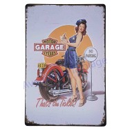 Plaque vintage police Pin-up garage Motor Cycles