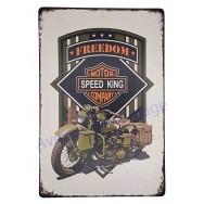 Plaque vintage moto militaire ancienne