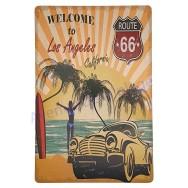 Plaque vintage Route 66 California beach