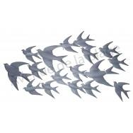 Hirondelles en vol en métal à accrocher 87 cm