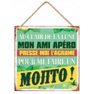 Pancarte métal la chanson du mojito