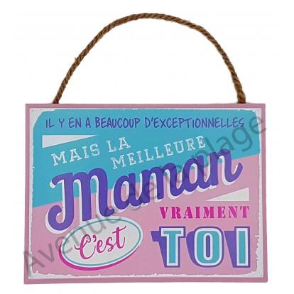 """Plaque message """"La meilleure Maman"""""""