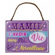 "Plaque message ""Mamie Merveilleuse"""