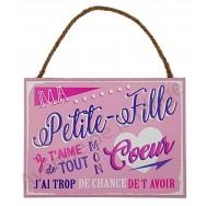 """Plaque message """"Ma Petite-Fille"""""""