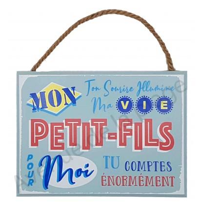 """Plaque message """"Mon Petit-Fils"""""""