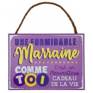 "Plaque message "" Marraine formidable"""