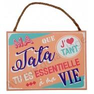 "Plaque message ""Ma Tata que j'aime"""