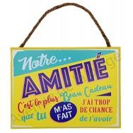 """Plaque message """"Notre Amitié"""""""