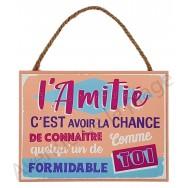 """Plaque message """"L'Amitié"""""""