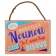 """Plaque message """"Ma Gentille Nounou"""""""