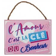 """Plaque message """"L'Amour"""""""